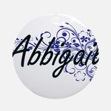 Abbigail Artistic Name Design with Round Ornament