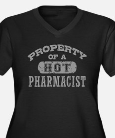 Property of Women's Plus Size V-Neck Dark T-Shirt