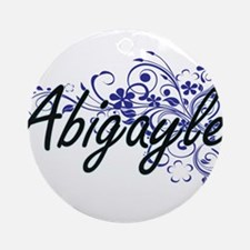 Abigayle Artistic Name Design with Round Ornament