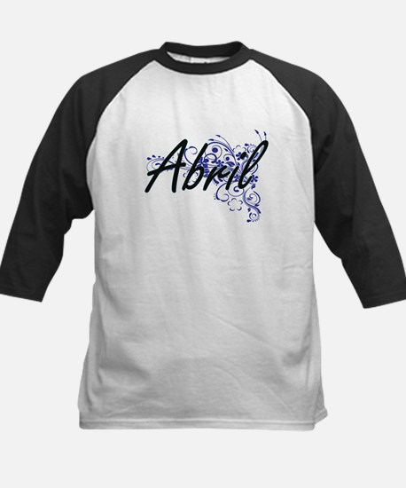 Abril Artistic Name Design with Fl Baseball Jersey