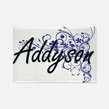 Addyson Artistic Name Design with Flowers Magnets