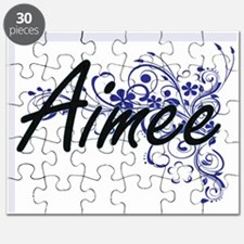 Aimee Artistic Name Design with Flowers Puzzle
