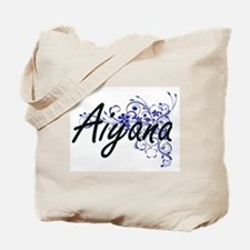 Aiyana Artistic Name Design with Flowers Tote Bag