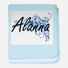 Alanna Artistic Name Design with Flow baby blanket