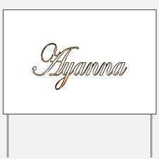 Gold Ayanna Yard Sign