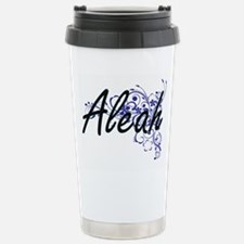 Aleah Artistic Name Des Stainless Steel Travel Mug