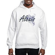 Alexis Artistic Name Design with Hoodie Sweatshirt