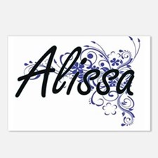 Alissa Artistic Name Desi Postcards (Package of 8)
