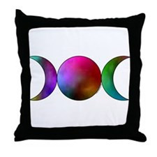 Triple Moon Throw Pillow - Watercolor