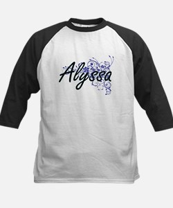 Alyssa Artistic Name Design with F Baseball Jersey
