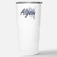 Alyssa Artistic Name De Stainless Steel Travel Mug