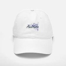 Anastasia Artistic Name Design with Flowers Baseball Baseball Cap