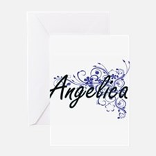 Angelica Artistic Name Design with Greeting Cards