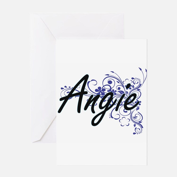 Angie Artistic Name Design with Flo Greeting Cards