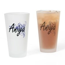Aniya Artistic Name Design with Flo Drinking Glass