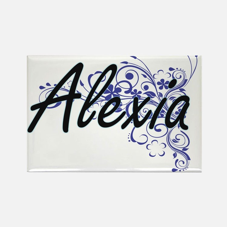 Alexia Artistic Name Design with Flowers Magnets