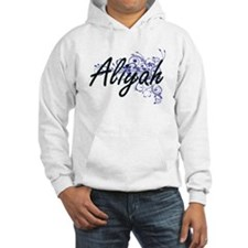 Aliyah Artistic Name Design with Hoodie Sweatshirt