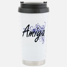 Amiya Artistic Name Des Stainless Steel Travel Mug