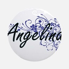 Angelina Artistic Name Design with Round Ornament