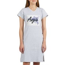 Angie Artistic Name Design with Women's Nightshirt