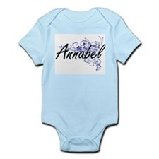 Annabel Artistic Name Design with Flower Body Suit