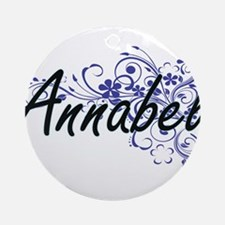 Annabel Artistic Name Design with F Round Ornament