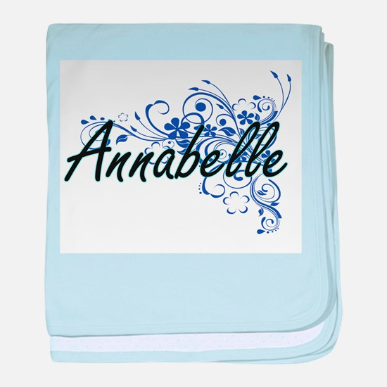 Annabelle Artistic Name Design with F baby blanket
