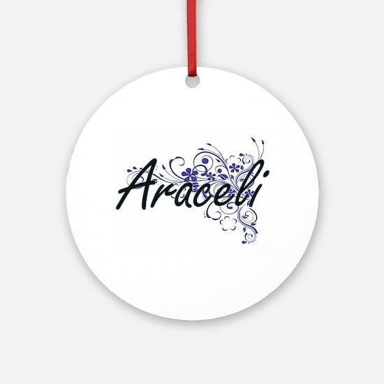 Araceli Artistic Name Design with F Round Ornament