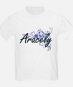 Aracely Artistic Name Design with Flowers T-Shirt