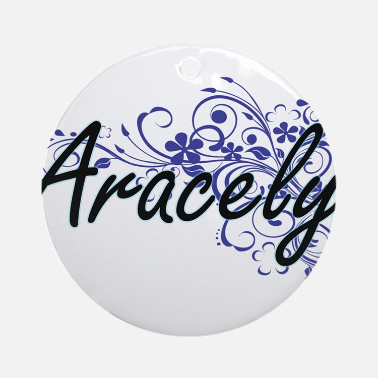 Aracely Artistic Name Design with F Round Ornament