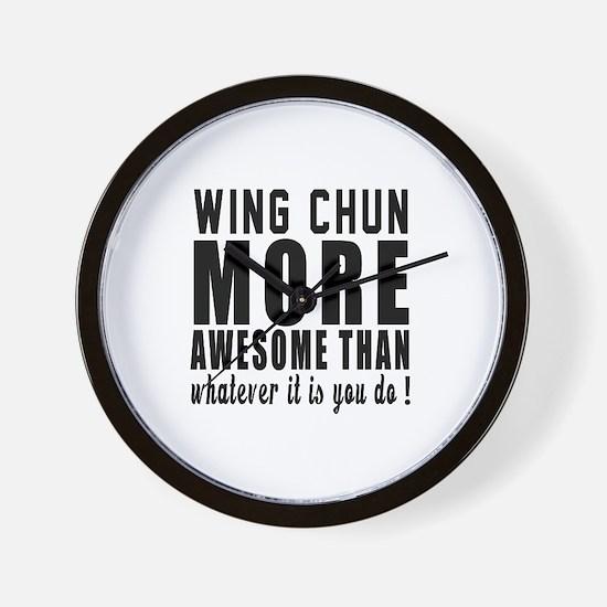 Wing Chun More Awesome Martial Arts Wall Clock