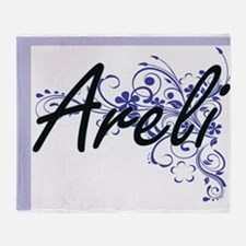 Areli Artistic Name Design with Flow Throw Blanket