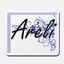 Areli Artistic Name Design with Flowers Mousepad