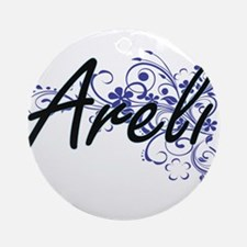 Areli Artistic Name Design with Flo Round Ornament