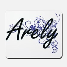 Arely Artistic Name Design with Flowers Mousepad