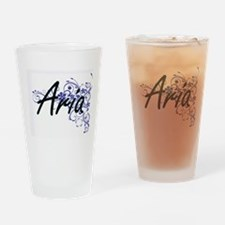 Aria Artistic Name Design with Flow Drinking Glass
