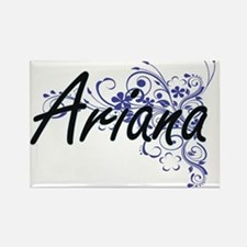 Ariana Artistic Name Design with Flowers Magnets