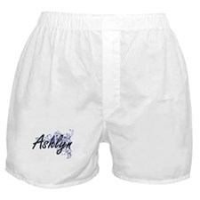 Ashlyn Artistic Name Design with Flow Boxer Shorts