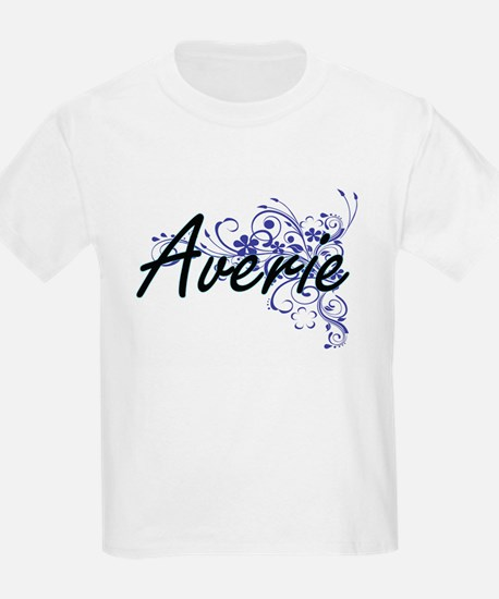 Averie Artistic Name Design with Flowers T-Shirt