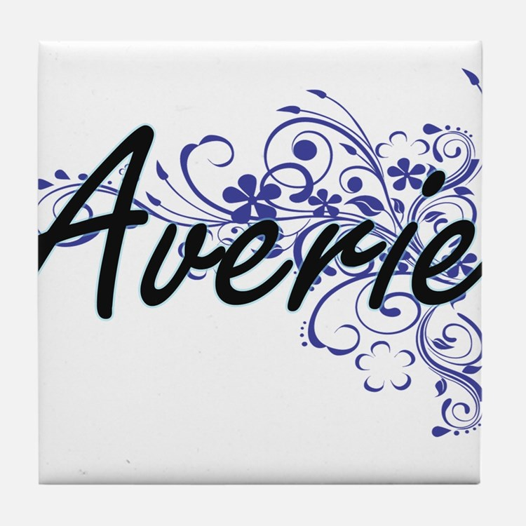Averie Artistic Name Design with Flow Tile Coaster