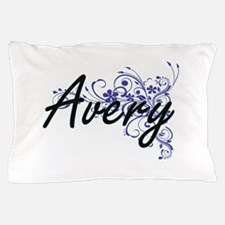 Avery Artistic Name Design with Flower Pillow Case