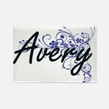 Avery Artistic Name Design with Flowers Magnets