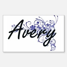 Avery Artistic Name Design with Flowers Decal