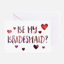 Be My Bridesmaid Invitation Greeting Cards