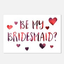 be my bridesmaid invitation Postcards (Package of