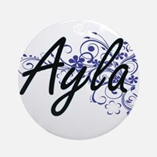 Ayla Artistic Name Design with Flow Round Ornament