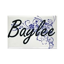 Baylee Artistic Name Design with Flowers Magnets