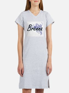 Brenna Artistic Name Design wit Women's Nightshirt