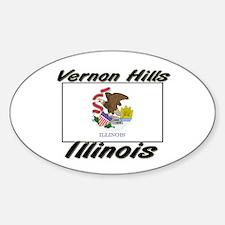 Vernon Hills Illinois Oval Decal