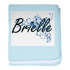 Brielle Artistic Name Design with Flo baby blanket